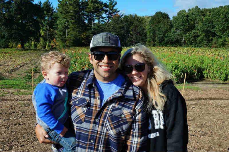 Happy Family loving Fall in New England