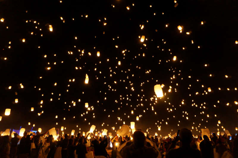 lantern release at Lights Festival